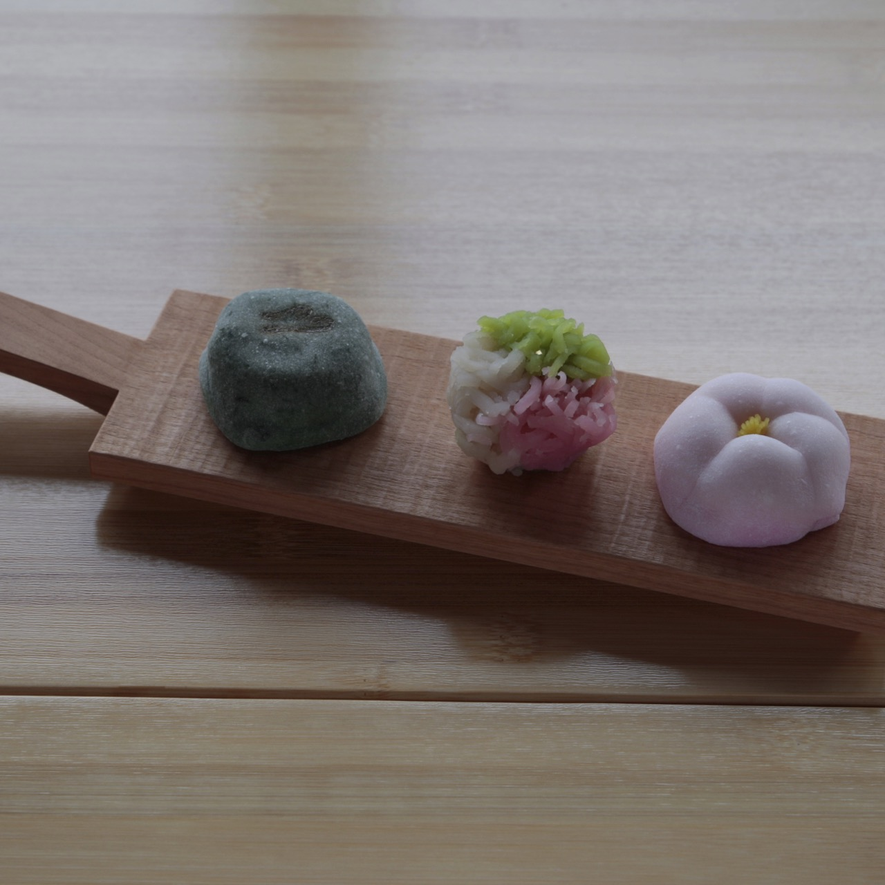 Cutting Board with Japanese Sweets
